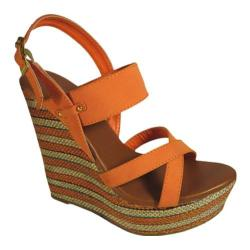 Women's Beston Lisa-1 Orange Faux Leather