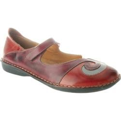 Women's Spring Step Cosmic Red/Wine Combo Leather