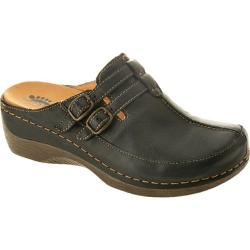 Women's Spring Step Happy Black Leather