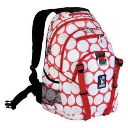 Wildkin Big Dot Red & White Serious Backpack