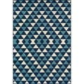 Indoor/Outdoor Blue Kaleidoscope Area Rug (5'3 x 7'6)