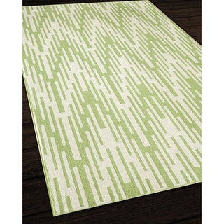 Indoor/Outdoor Green Ikat Area Rug (7'10 x 10'10)