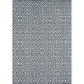 Indoor/Outdoor Blue Diamonds Area Rug (6'7 x 9'6)
