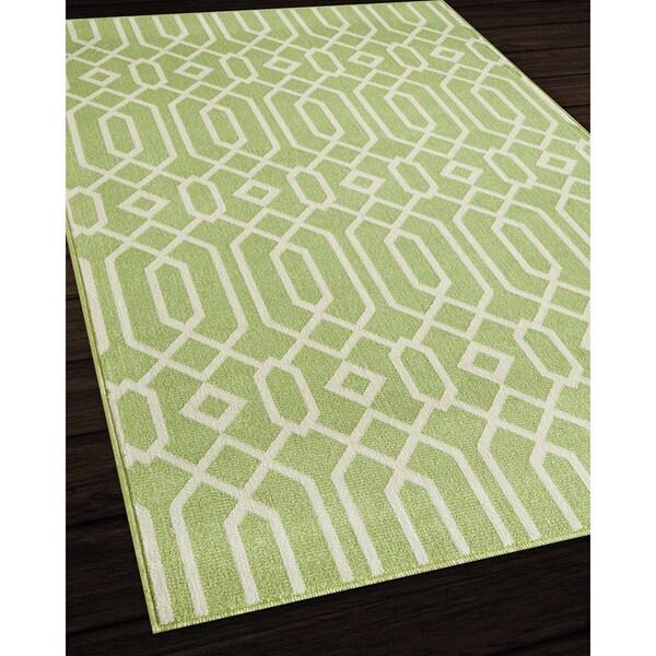 Indoor Outdoor Green Links Rug 7 10 x 10 10