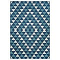 Indoor/Outdoor Blue Kaleidoscope Area Rug (3'11 x 5'7)