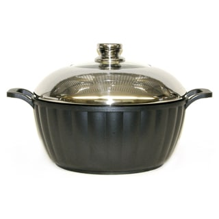 Mega Cook Cast Aluminum Stock Pot with Domed Lid