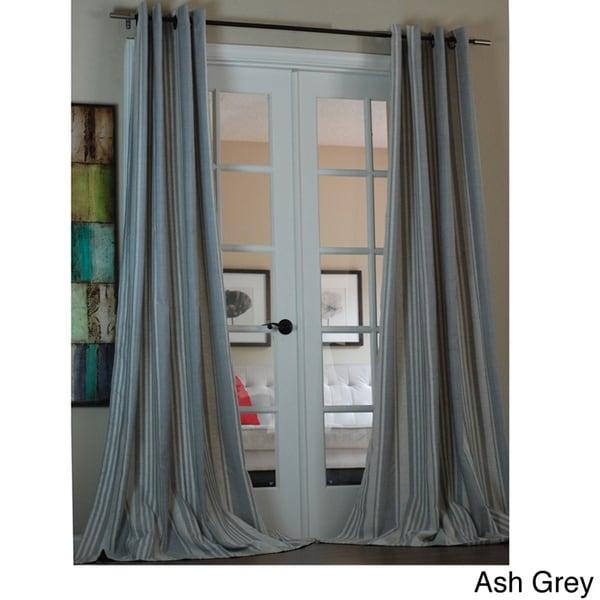 Bali Stripe Linen Blend 96-inch Curtain Panel