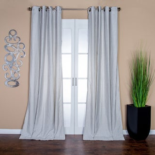 Ava Stripe Linen Blend 96-inch Curtain Panel