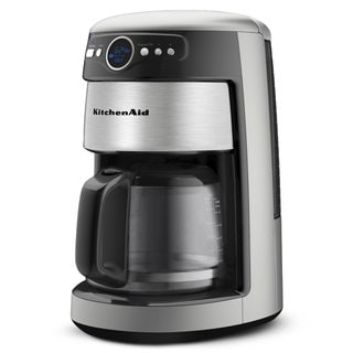 KitchenAid KCM222CS Cocoa Silver 14-Cup Glass Carafe Coffee Maker
