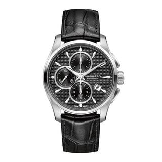 Hamilton Men's 'Jazzmaster Auto Chrono' Black Dial Watch