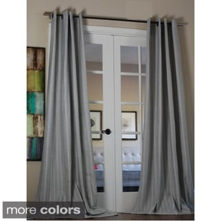 Pinstripe Linen Blend 96-inch Curtain Panel