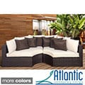'Modena' Dark Brown Wicker Round Patio Sectional