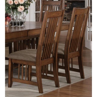 Mission Country Walnut Oak Dining Chairs (Set of 2)
