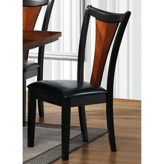 Valencia Black/ Cherry Dining Chairs (Set of 2)