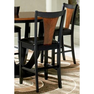 Valencia Black/ Cherry Counter Stools (set of 2)