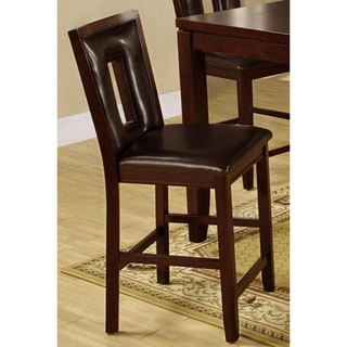 Dahlia Keyhole Dark Brown Counter Stools (Set of 2)