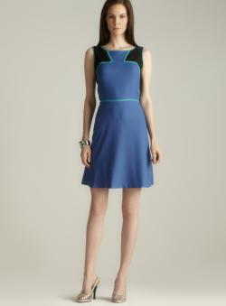 Marc New York Fit & Flare Colorblock Dress
