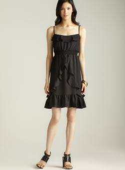 Max & Cleo Spaghetti Strap Smocked Ruffle Dress