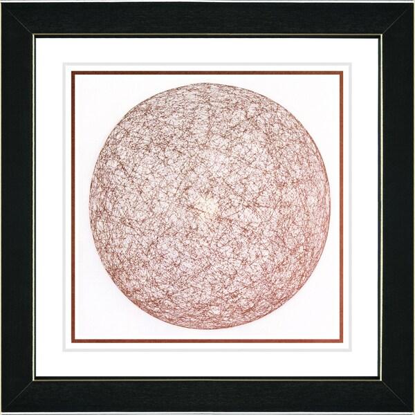 Studio Works Modern 'Sphere of Influence - Terra Cotta' Framed Art Print