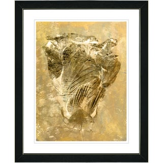 Studio Works Modern 'Dancing Bud - Golden Sepia' Framed Art Print