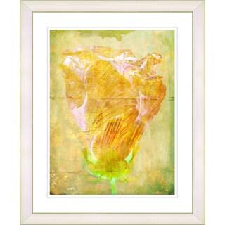 Studio Works Modern 'Dancing Bud - Honey Yellow' Framed Art Print