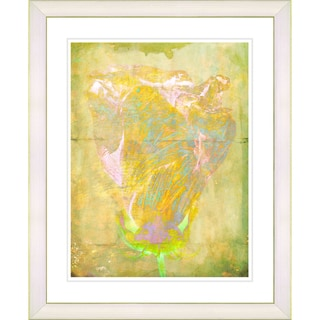 Studio Works Modern 'Dancing Bud - Easter Yellow' Framed Art Print