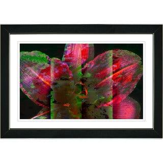 Studio Works Modern 'Night Flower - Red' Framed Art Print