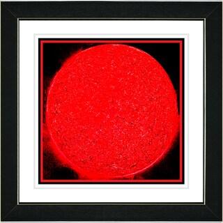 Studio Works Modern 'Apollo - Red' Framed Art Print