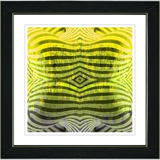 Studio Works Modern 'Rio Bio Bio - Yellow' Framed Art Print