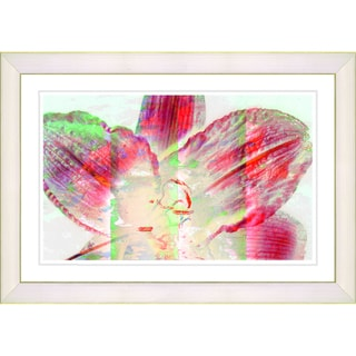 Studio Works Modern 'Mist Flower - Red' Framed Art Print
