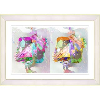 Zhee Singer 'Double Gordian' White Framed Art Print