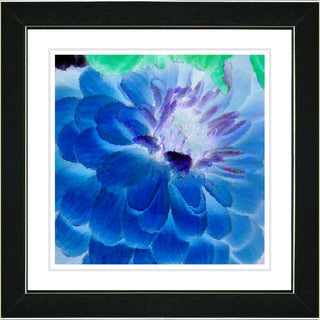 Studio Works Modern 'Blue Dahlia' Framed Art Print