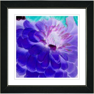 Studio Works Modern 'Purple Dahlia' Framed Art Print