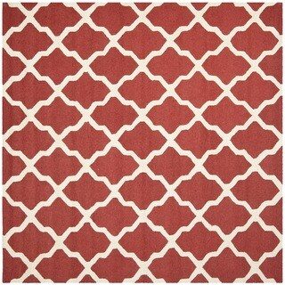 Safavieh Handmade Moroccan Cambridge Rust/ Ivory Wool Rug (8' Square)