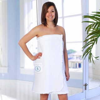 Personalized Ruffled Spa Bath Wrap