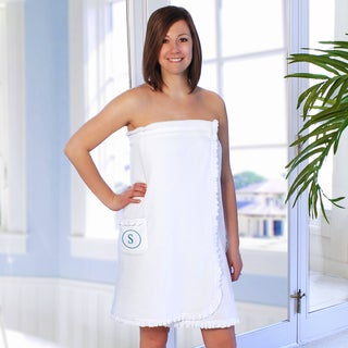 Mongrammed Ruffled Spa Bath Wrap