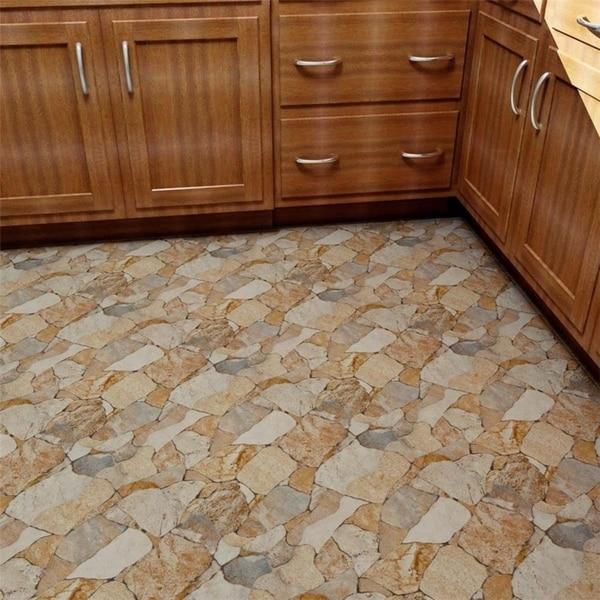 Stone look floor tiles