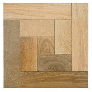 SomerTile 12.5 x 12.5 Cobi Nogal Wood-Look Ceramic Floor and Wall Tile (Case of 10)