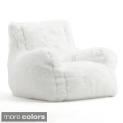 BeanSack Big Joe Lusso Faux Fur Bean Bag Chair