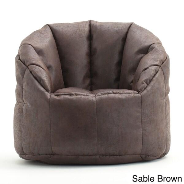 Beansack Big Joe Lusso Faux Leather Bean Bag Chair