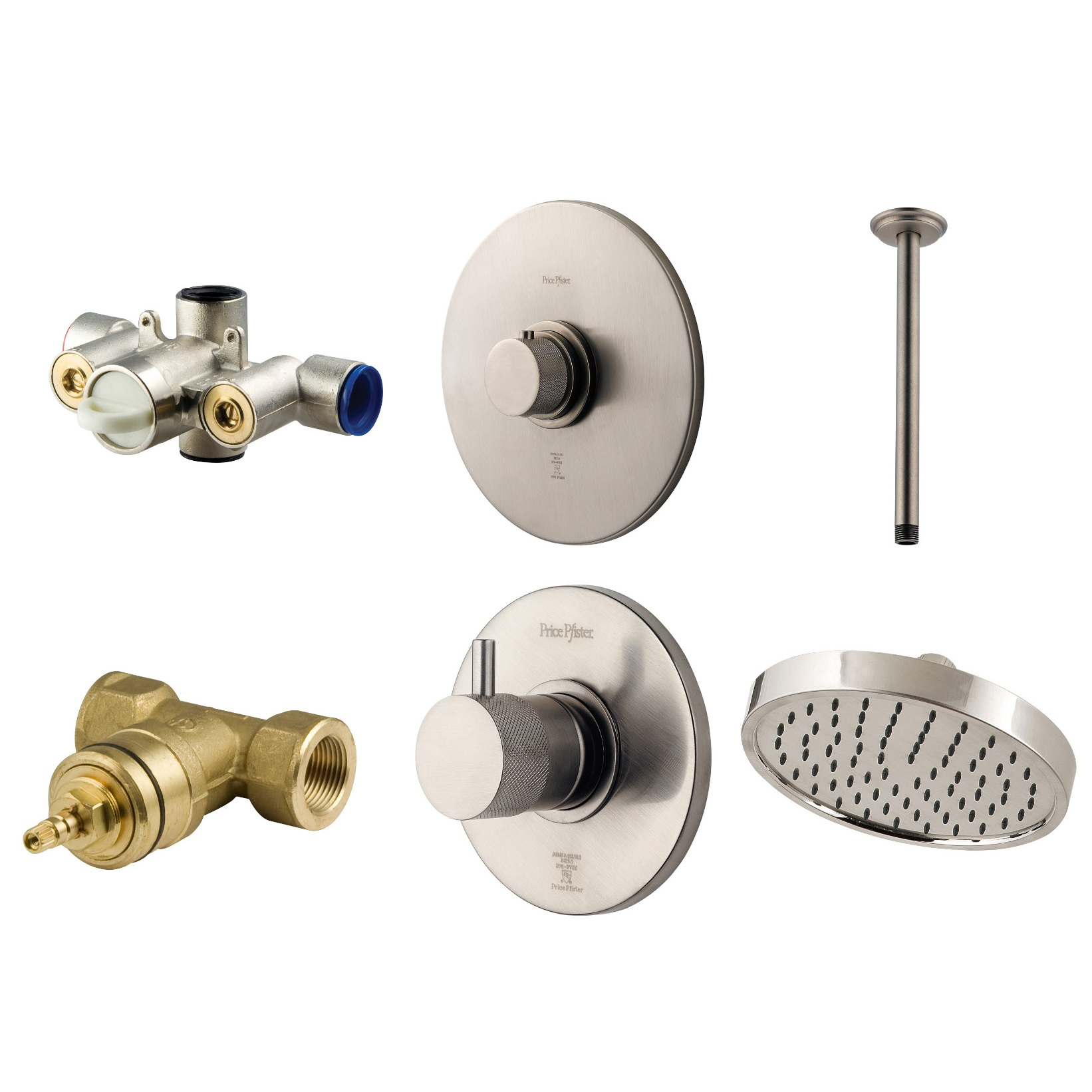 Pfister™ Price Pfister Thermostatic Ceiling-mount Shower Head Combo at Sears.com