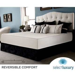 Select Luxury Reversible Medium Firm 10-inch Cal King-size Foam Mattress