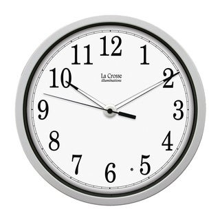 Illuminated 12-inch White Clock
