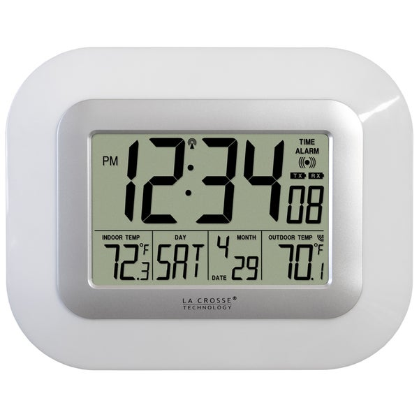 Digital Atomic Wall Clock with Solar Sensor