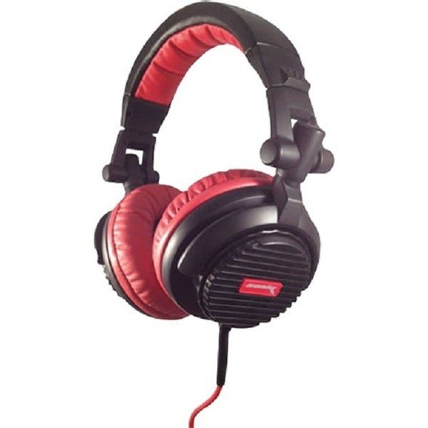 Soniq Thrust High Performance DJ Monitor Recording Red Headphones