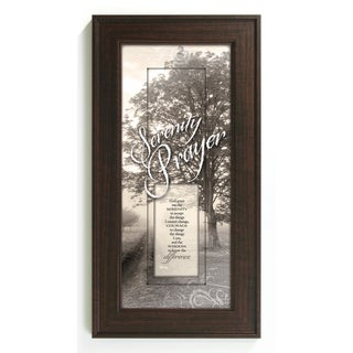 James Lawrence 'Serenity Prayer' Vertical Framed Wall Art
