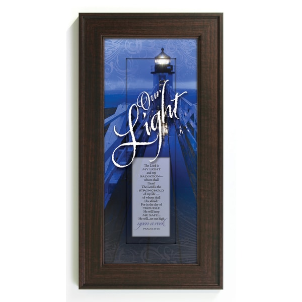 James Lawrence 'Our Light--The Lord Is' Framed Wall Art