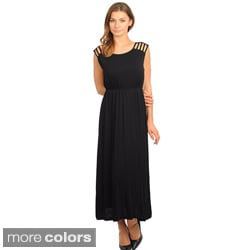 Stanzino Women's Cut-out Shoulder Maxi Dress