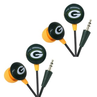 iHip NFL Green Bay Packers Mini Ear Buds (Pack of 2)