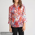 Thesis Women's Watercolor Print Sheer Blouse